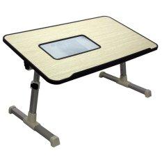 Unique Laptop Table - Meja Laptop Lipat Kayu - Portable Laptop Fan A8 V3 Black