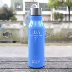 Promo Universal Botol Minum H2O A Healthy Life Unbreakable Bottle 600Ml Sm 8229 Blue