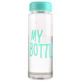 Jual Universal Botol Minum Plastik Bening Juice Lemon My Bottle 500Ml Blue Original
