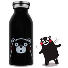 Harga Universal Botol Minum Stainless Steel Anak Gambar Kartun 350Ml Black Yang Murah