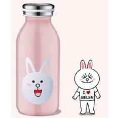 Jual Universal Botol Minum Stainless Steel Anak Gambar Kartun 350Ml Pink Universal Branded
