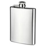 Situs Review Universal Botol Minum Wine Bir Flask Hip Square Shape Stainless Steel 8Oz Black
