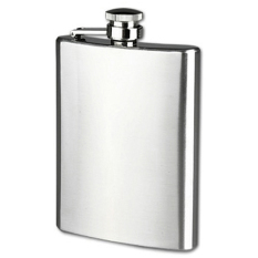 Kualitas Universal Botol Minum Wine Bir Flask Hip Square Shape Stainless Steel 8Oz Black Universal