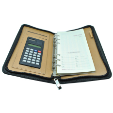 Spesifikasi Universal Buku Catatan Binder Note Cover Kulit With Kalkulator Black Yang Bagus