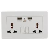 Spek Universal Usb Ganda Dinding Soket Adaptor Outlet Listrik Tenaga Bi119 Sz