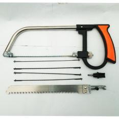 Universal Gergaji Multifungsi Bisa Untuk Memotong Besi , Keramik Dll Sudah termasuk 5 Mata Pisau ( Pegangan Kuat ) - Hitam