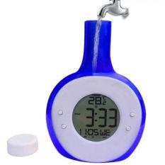 Jual Universal Jam Alarm Tenaga Air Model Botol Blue Di Bawah Harga