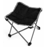 Universal Kursi Lipat Outdoor Fishing Stool Chair Black Gray Asli
