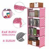 Review Kinbar Rak Buku 5 Lapis Pink Polkadot