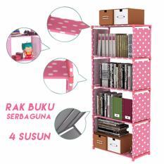Review Toko Kinbar Rak Buku 5 Lapis Pink Polkadot