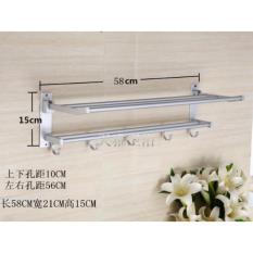 Spesifikasi Universal Rak Handuk Dinding Aluminium