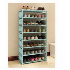 Toko Universal Rak Sepatu 8 Susun Biru Polkadot Murah Dki Jakarta