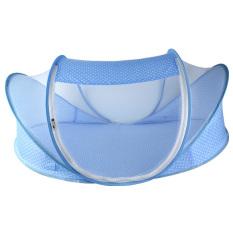 Diskon Universal Ranjang Bayi Net Anti Nyamuk Dengan Bantal Kepala 3 Tahun Blue