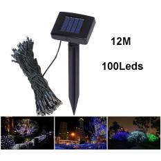Universal Solar Powered Garden Decoration Light 100 LED / Lampu Hias Taman - Hitam