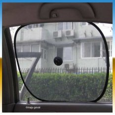 Universal Tabir Surya Kaca Jendela Mobil Warna Hitam (Harga 1 set isi 2pc)