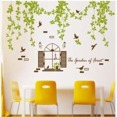 Uotoc 3D Stereo Pemandangan Alam Seni Stiker Ruangan Rumah Dekorasi Dinding Stiker 107*77 Cm
