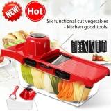 Beli Versi Upgrade 5 In 1 Sayuran Buah Pisau Baja Yang Dapat Disesuaikan Multifungsi Slicer Cutter Dengan Kotak Penyimpanan Intl