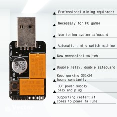 USB Watchdog Timer Card module Automatic Restart IP Electronic Reboot w/ Cable - intl
