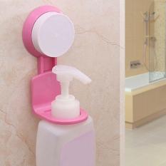 Review Pada Berguna Kamar Mandi Shampoo Bath Botol Hanger Wall Mount Shelf Storage Warna Pink Intl