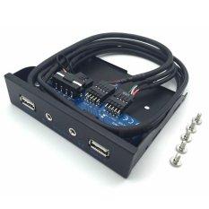 Jual Beli Ustore 3 5 2 Usb 2 Port Hub Hd Audio Output Floppy Drive Expansion Front Panel Intl Baru Tiongkok