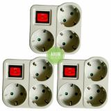 Jual Uticon® Stop Kontak Steker Arde 3 Lubang Multisocket Saklar Switch 3In1 Pengaman Socket 3Pcs Ori