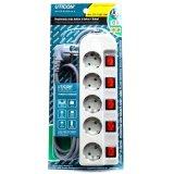 Uticon St 1582Sw Stop Kontak 5 Lubang 5 Switch Abu Abu Original