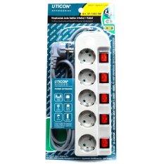 Jual Uticon St 1582Sw Stop Kontak 5 Lubang 5 Switch Abu Abu Online Di Dki Jakarta