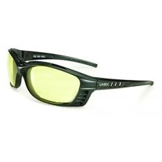 UVEX Oleh Honeywell S2602XP UVEX Livewire Sealed Kacamata dengan Bingkai Hitam Matte, Amber Lensa Tint, UV Extreme dan Anti-Fog Lens Coating-Intl