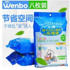 Vacuum Bag Compression Kantong Travel Tas Pakaian Kompres Penyimpanan Baju Organizer FREE POMPA