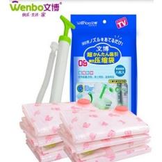 Spesifikasi Vacuum Bag Isi 8 Bonus Pompa Manual Compression Bag Merk Wenbo