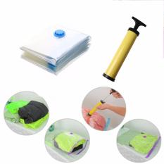 Harga Vacuum Bag Plastik Set Isi 6 Bonus Pompa Manual Original