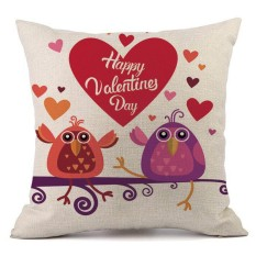 Hari Valentine Modis Throw Bantal Kasus Cafe Sofa Sarung Bantal Dekorasi Rumah-Internasional