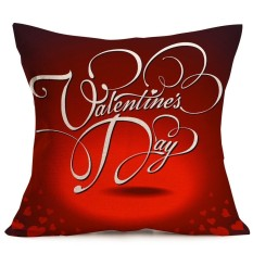 Valentine's Day Gift Fashion Throw Pillow Cases Cafe Sofa Cushion Cover - intl