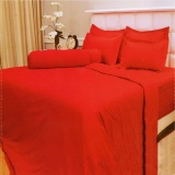 Harga Vallery Quincy Bedcover King Warna Red 180X200X30 Cm Termurah
