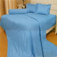 Jual Vallery Quincy Sprei King 180X200X30 Cm Warna Light Blue Murah