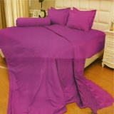 Harga Vallery Quincy Sprei Queen 160X200X30 Cm Warna Light Purple Fullset Murah