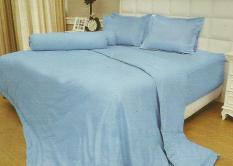 Jual Vallery Sprei Jacquard 120X200 Light Blue Termurah