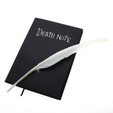 Beli Vanker 2Pcs Set Death Note Notebook Feather Pen Anime Theme Cartoon Cosplay Prop Book Baru