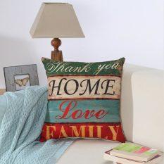Vanker Lempar Bantal Kasus Rumah Sofa Kursi Mobil Dekorasi Cushion Cover (Tipe Keluarga)