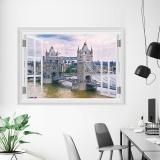 Spesifikasi Berbagai Tampilan Lansekap 3D Wall Sticker Untuk Jendela Dekorasi Rumah 50 Cm 70 Cm 20 28 Jembatan London Intl Dan Harga