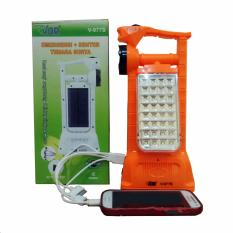 VDR Senter + Lampu Emergency + Power Bank Tenaga Surya V-977S