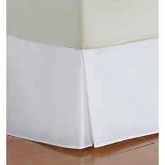 Vedanta Home Collection Hotel Kualitas 700-Thread-Count Cotton King Size One Piece Rok Rok Sudut Pandang 17 Inch Drop Panjang Solid Putih-Intl