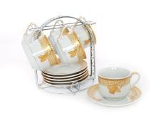 Vicenza Cangkir Lepek Cup Saucer B671 13 Pcs Motif Lily Original