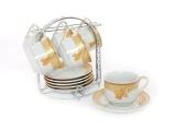 Toko Vicenza Cangkir Lepek Cup Saucer B671 13 Pcs Motif Lily Vicenza