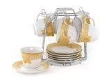 Harga Vicenza Cup Saucer Tea Set Cangkir Dan Lepek C78 1 Motif Lily Asli