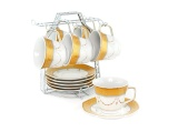 Kualitas Vicenza Cup Saucer Tea Set Cangkir Dan Lepek C78 1 Motif Padi Vicenza