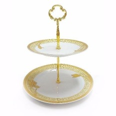 Vicenza Double Plate - Piring Susun P24 Motif Lily