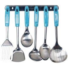 Beli Vicenza Kitchen Tools S S Vk915C 7 Buah Biru Muda Di Indonesia