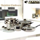 Spek Vicenza Stainless Cookware Panci Set V612 Vicenza