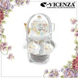 Diskon Vicenza Tableware C78 Cangkir Dan Lepek Dengan Teko Cup And Saucer Tea Set With Teapot Branded